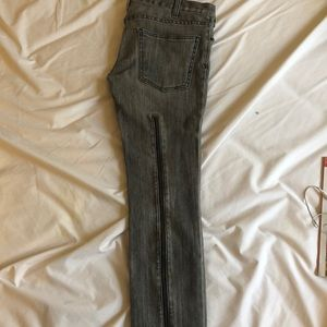 Current Elliot gray jeans with zippers